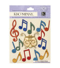 K&Company 14 pk Dimensional Stickers-Music Notes