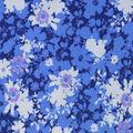 Premium Cotton Fabric-Blue Maeve Splatter Flowers