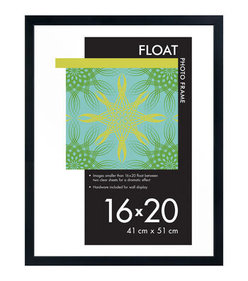 Wood Float Photo Frame 16''x20''-Black