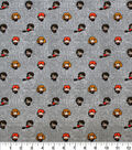 Harry Potter Knit Fabric-Little Characters Gray