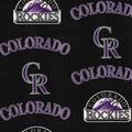 Colorado Rockies Fleece Fabric-Tossed