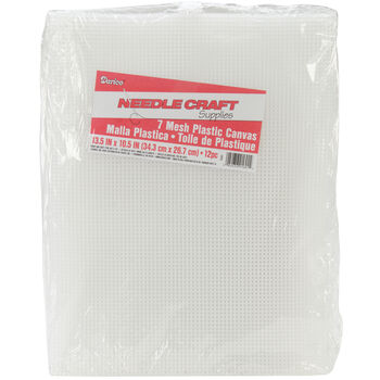 "Plastic Canvas 7 Count 10.5""X13.5"" 12/Pkg-Clear"