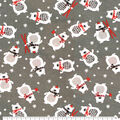 Super Snuggle Flannel Fabric-Winter Bear with Scarf