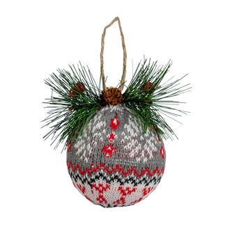 Handmade Holiday Christmas Alpine Lodge 4.13'' Bulb Ornament-Fair Isle