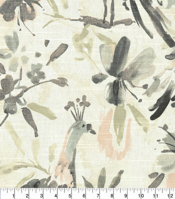 Kelly Ripa Home Upholstery Fabric 54''-Oyster Flora Flaunt