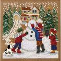 Mill Hill Buttons & Beads 5\u0027\u0027x5\u0027\u0027 Counted Cross Stitch Kit-Snow Day