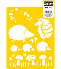 Delta Stencil Mania - Hedgehog, 7\u0022 x 10\u0022