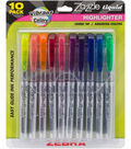 Zazzle Liquid Chisel Tip Highlighter 10/Pkg-Assorted