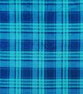 Anti-Pill Plush Fleece Fabric-Teal & Navy Plaid