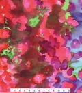 Spring Sheen Stretch Chiffon Fabric 55\u0022-Blurred Dye Multi