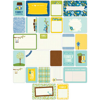 Project Life Themed Cards 60/Pkg-Family