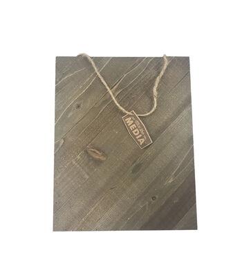 Mix the Media 12''x15'' Diagonal Wood Plank-Rustic