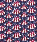 Patriotic Cotton Fabric -Mini Bunting