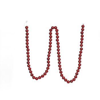 Handmade Holiday Christmas 72'' Bead Garland-Red