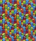 Novelty Cotton Fabric-Rainbow Dogs