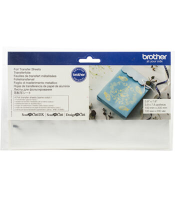 Brother ScanNCut SDX125 Foil Transfer Sheets-Silver