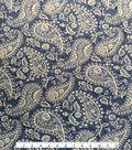 Knit Fabric 57\u0027\u0027-Medium Paisley on Blue & White Cracked