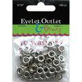 Eyelet Outlet Eyelets & Washers -3/16\u0022, 50 Eyelets, 50 Washers