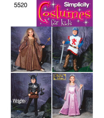 Simplicity Costume Pattern for Kids 5520A-Size 3 4 5 6 7