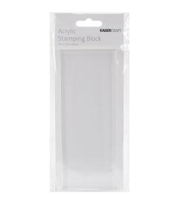 2x5.25x.25-acrylic Stampg Block
