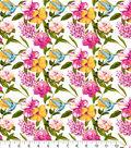 Snuggle Flannel Print Fabric -Hummingbird Floral