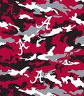 University of Alabama Crimson Tide Fleece Fabric -Camo