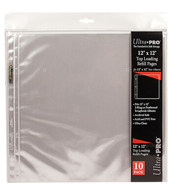 Ultra Pro 10 pk 12''x12'' Top Loading Refill Pages