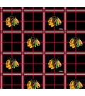Chicago Blackhawks Flannel Fabric 44\u0022-Plaid