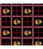 Chicago Blackhawks Flannel Fabric -Plaid, , hi-res