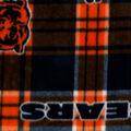 Chicago Bears Fleece Fabric -Plaid