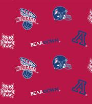 "University of Arizona Wildcats Cotton Fabric 44""-Allover, , hi-res"