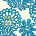 Genevieve Gorder Multi-Purpose Decor Fabric 54\u0027\u0027-Peacock Flower Pops