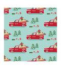 American Crafts Bleach Gift Wrap 30\u0022X10ft-Santa Truck-Gold Foil