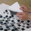York Wallcoverings Sticktiles-Black & White Mosaic
