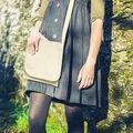 Book Bag with Shoulder Strap-Natural