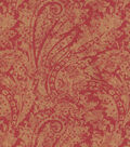 Waverly Upholstery Fabric 55\u0022-Burnished Scroll/Garnet