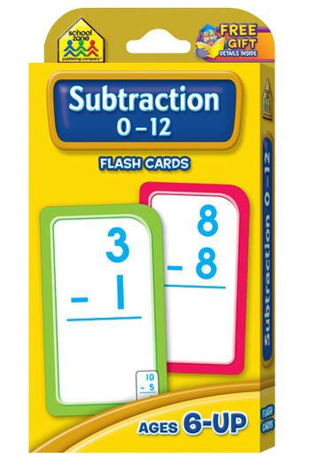 Flash Cards-Subtraction 0-12 53/Pkg
