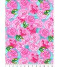 Nursery Flannel Fabric 42\u0027\u0027-Unicorn Roses