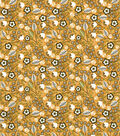 Quilter\u0027s Showcase Cotton Fabric -Multi Ditsy Flowers on Yellow