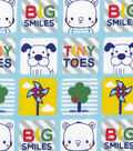 Snuggle Flannel Fabric -Big Smiles Tiny Toes