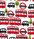 Snuggle Flannel Fabric -Welcome To London