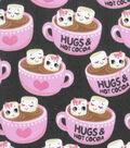 Novelty Cotton Fabric-Hugs & Hot Cocoa