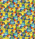 Pokemon Cotton Fabric 43\u0022-Packed Pikachu