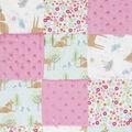 Nursery Quilt Patchwork Fabric-Deer Garden