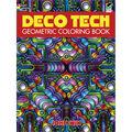 Adult Coloring Book-Dover Publications Deco Tech Geometric