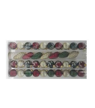 Maker's Holiday Christmas Woodland Lodge 10pk 40mm Boxed Ornaments