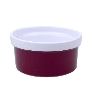 Simply Autumn Ramekin Bowl-Burgundy