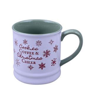 Handmade Holiday 16 oz. Stoneware Mug-Cookies Coffee & Christmas Cheer