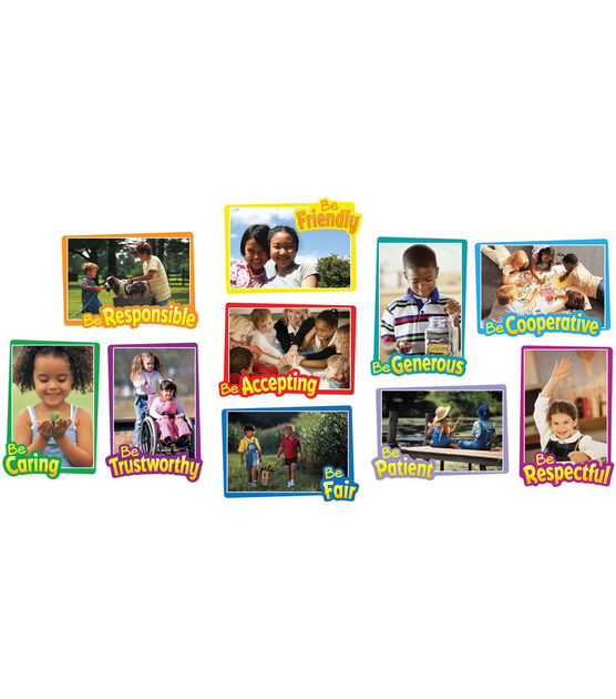 First Rate Character Traits Bulletin Board Set, 2 sets, , hi-res, image 1