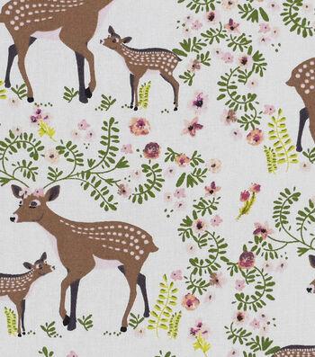 "Nursery Cotton Fabric 43""-Deer"